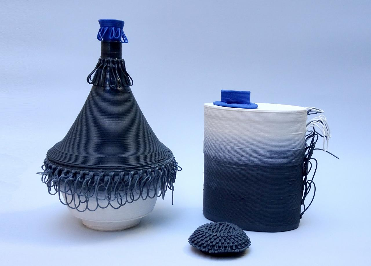 Ceramic 3D printing by Ben Landau and Lucile Sciallano of Alterfact Image courtesy of Alterfact