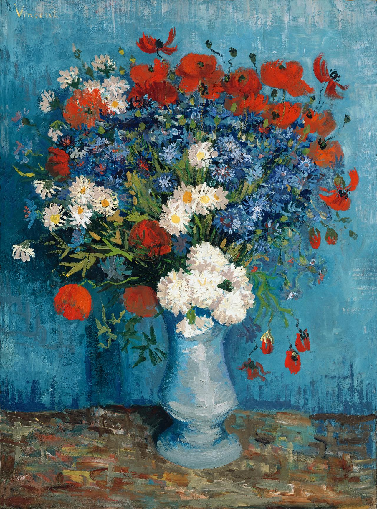 Vincent van Gogh  Still life with wildflowers and carnations summer 1887 Paris
