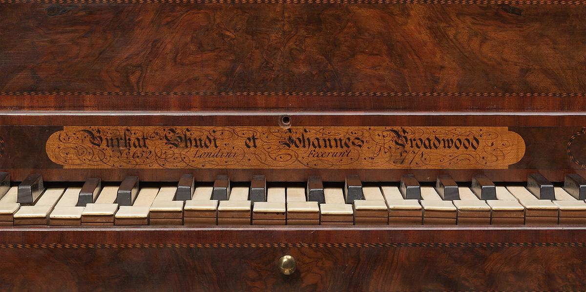 BURKAT SHUDI & JOHN BROADWOOD, London (manufacturer) Harpsichord 1771 (detail)