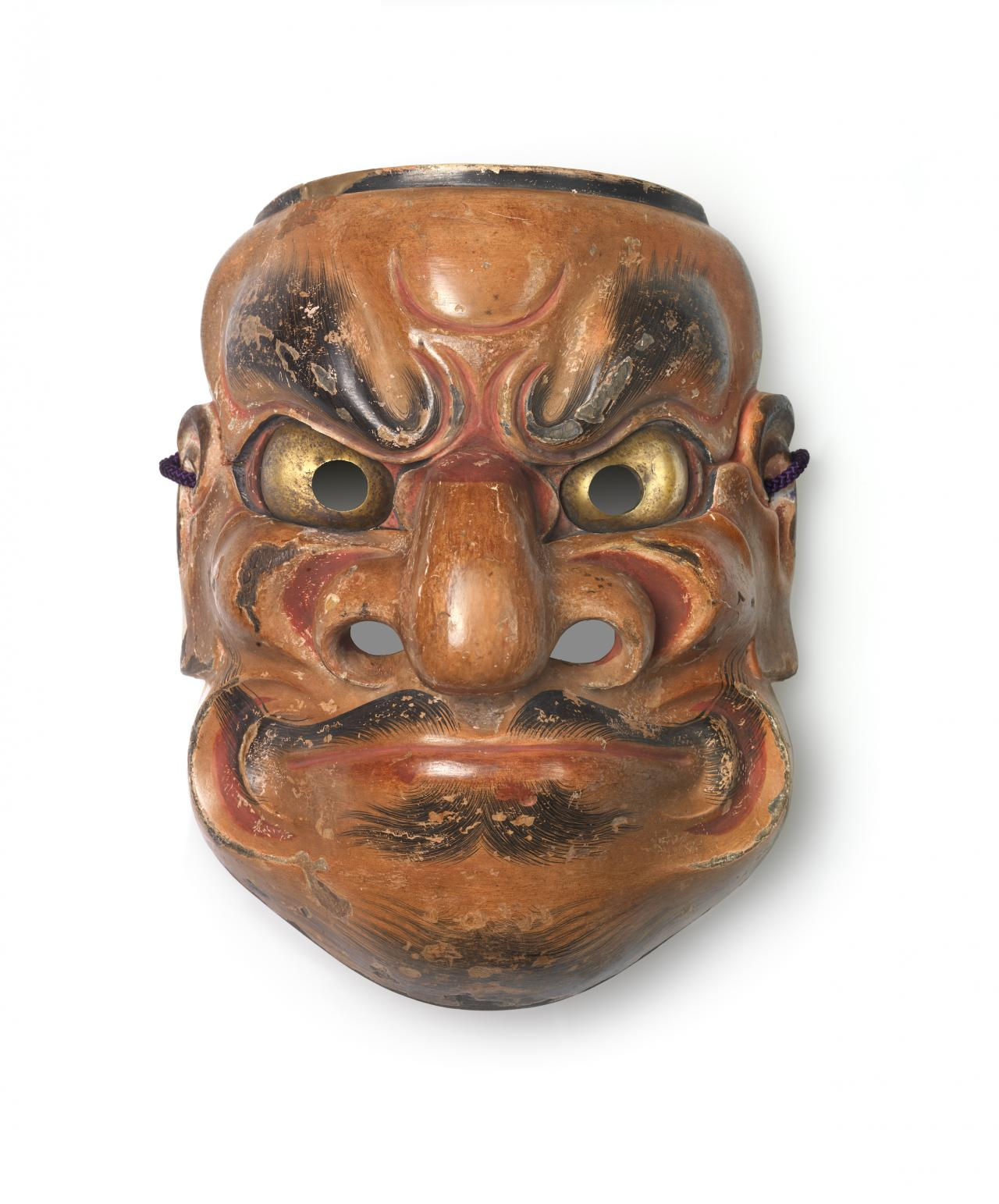 DEME Hidemitsu (attributed to) Noh mask, Ōbeshimi (17th century)