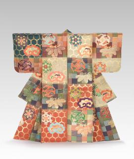 JAPANESE Noh theatre robe, Atsuita (late 18th century-early 19th century)