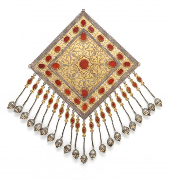 TURKMEN people Pectoral ornament (early 20th century)