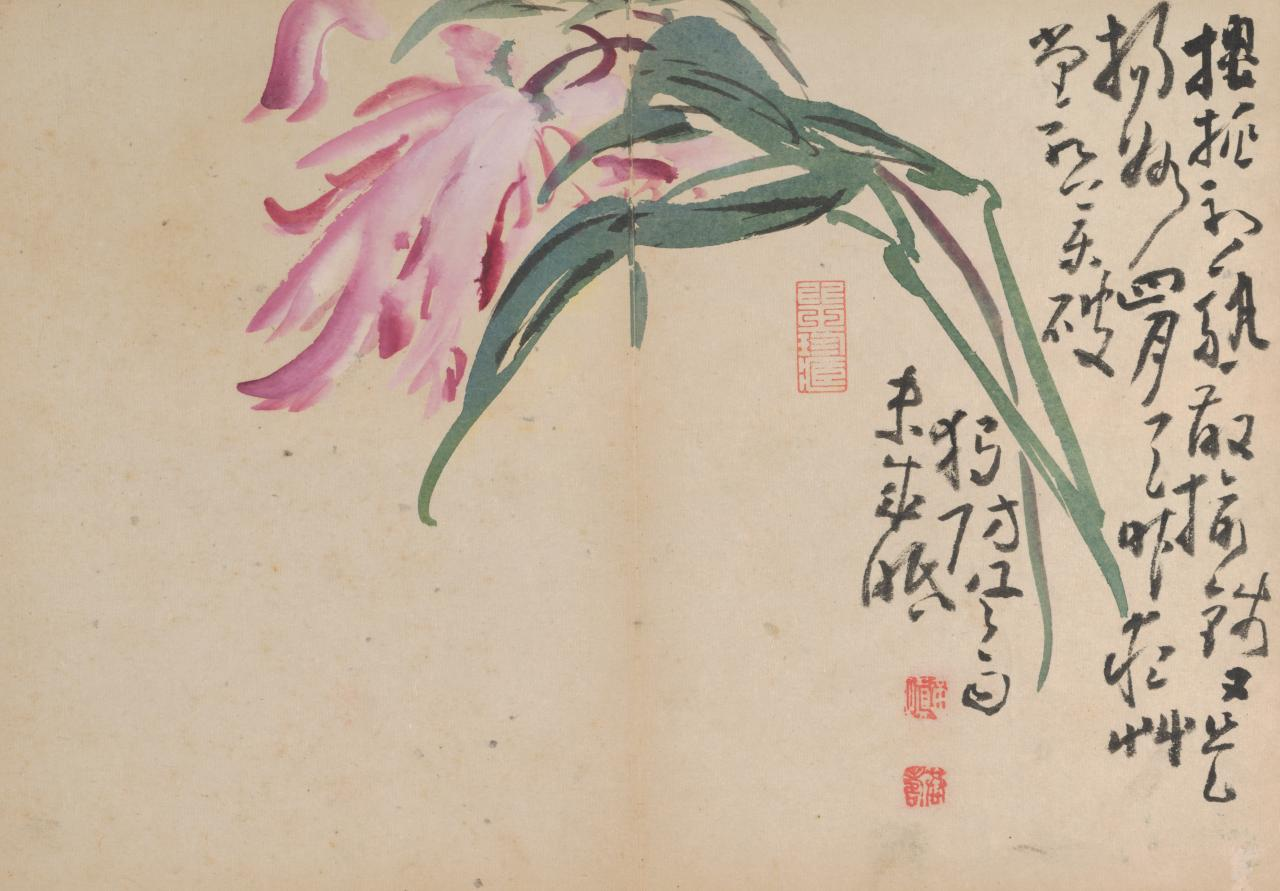 HUANG Shen Birds and flowers (mid 18th century)