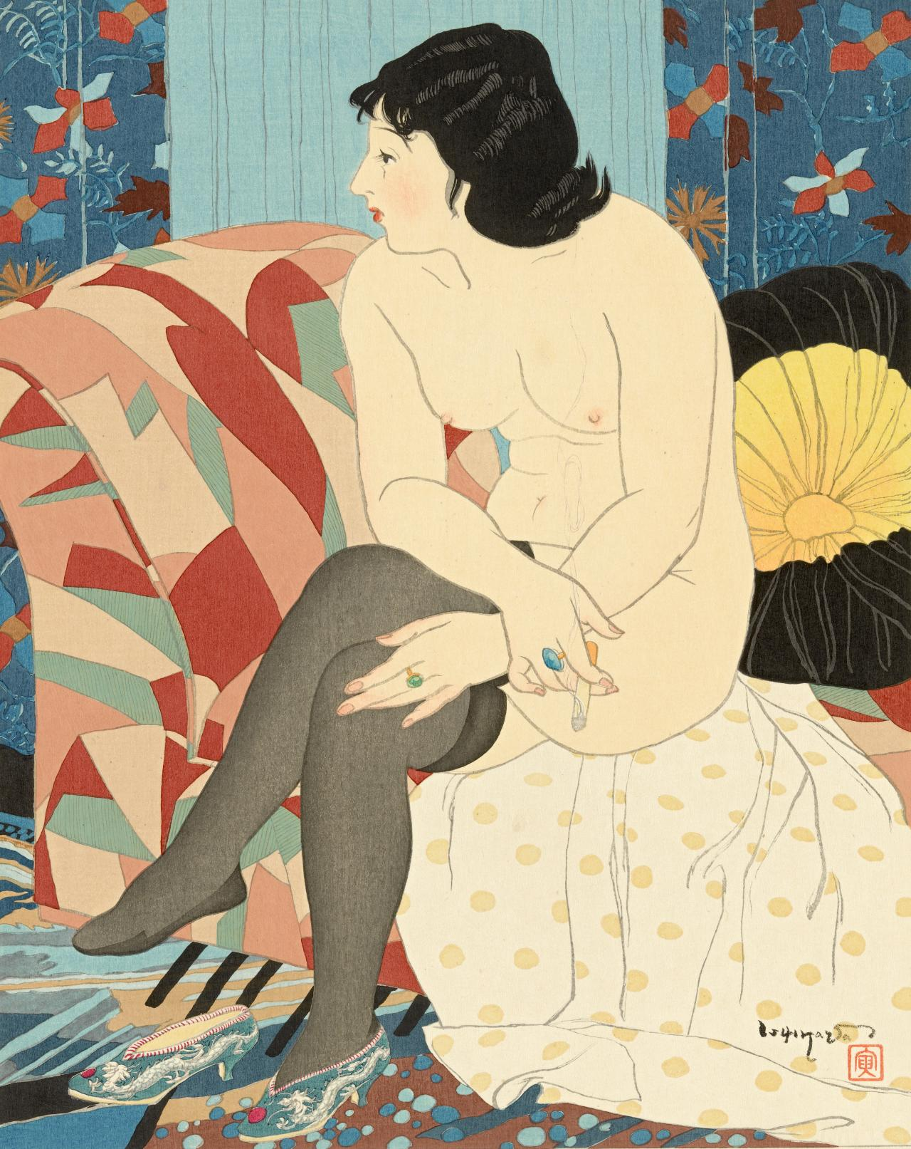 One Of The Most Celebrated And Controversial Series Of Prints Of This Dynamic Era Is Toraji Ishikawas Ten Nudes In  At The Age Of Fifty Four