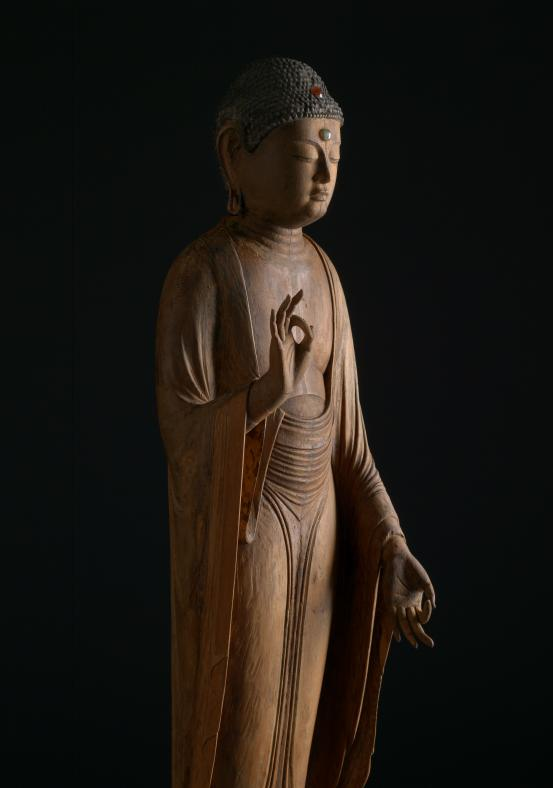 JAPANESE Amida Buddha (12th century) (detail 2)