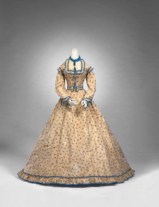 BRIGHT & HITCHCOCKS, Geelong, Victoria (retailer) Day dress (1865-1870)
