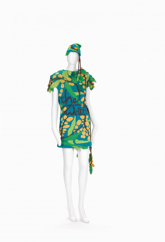 Wattle Dress And Hat Flamingo Park Sydney Fashion House Jenny Kee Designer Ngv View Work