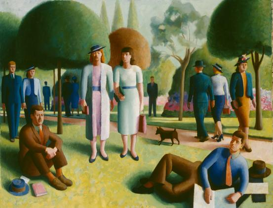 Clifford BAYLISS Garden scene (c. 1936-c. 1940)