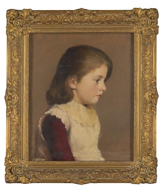 Tom ROBERTS (attributed to) Portrait of a young girl (1890)
