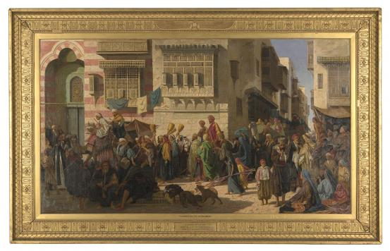 Robert DOWLING A Sheikh and his son entering Cairo on their return from a pilgrimage to Mecca 1874