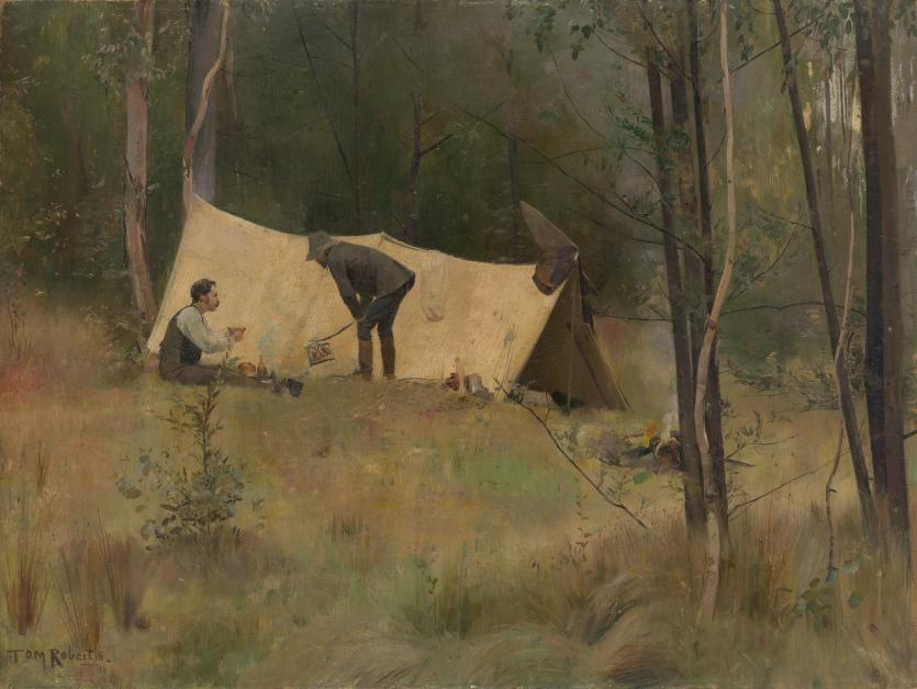 The Artists Camp Tom Roberts Ngv View Work