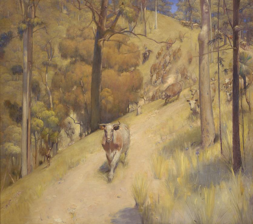 A Mountain Muster Tom Roberts Ngv View Work