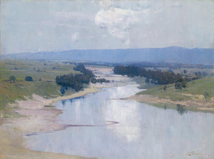 The River Arthur Streeton Ngv View Work