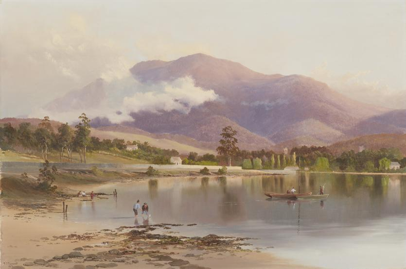 Mt Wellington from New Town Bay, Tasmania | W. C. PIGUENIT | NGV | View Work