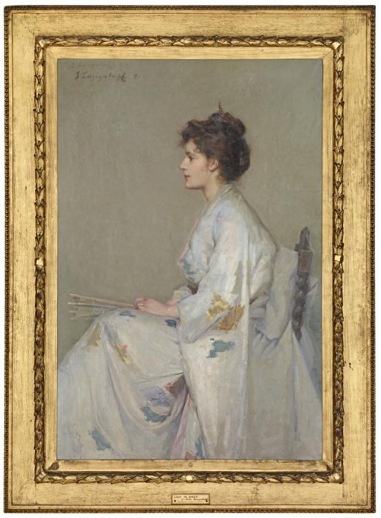 John LONGSTAFF Lady in grey 1890