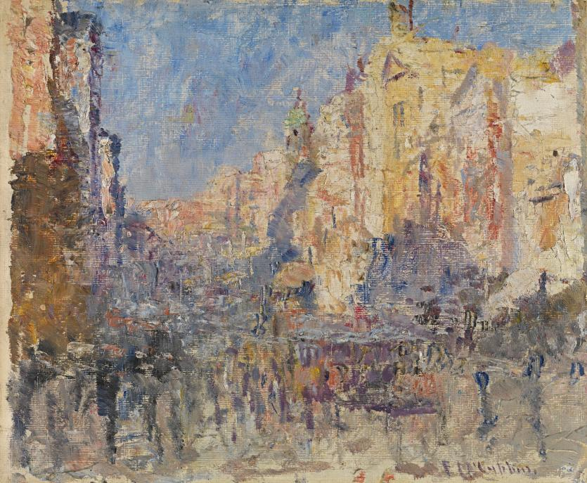 D Exhibition Melbourne : Collins street frederick mccubbin ngv view work
