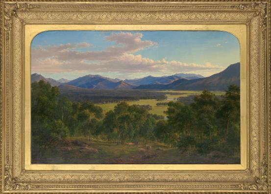 Eugène von GUÉRARD Spring in the valley of the Mitta Mitta with the Bogong Ranges 1866