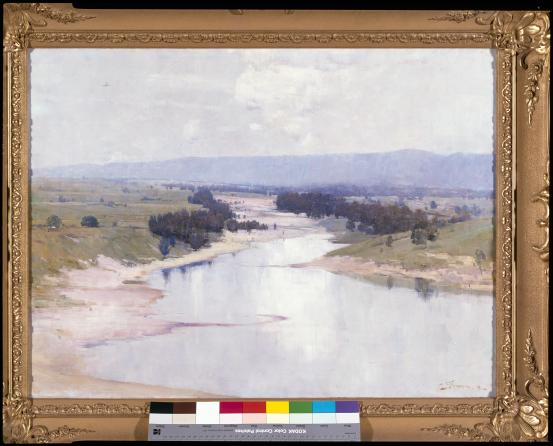 Arthur STREETON The river 1896