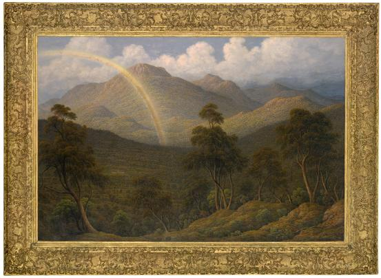 John GLOVER Mount Wellington with Orphan Asylum, Van Diemen's Land 1837