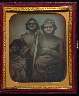 Douglas T. KILBURN No title (Group of Koori men) (c. 1847)