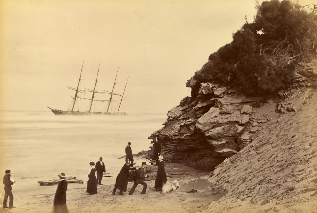 Fred KRUGER Wreck of the ship George Roper, Point Lonsdale (1883)