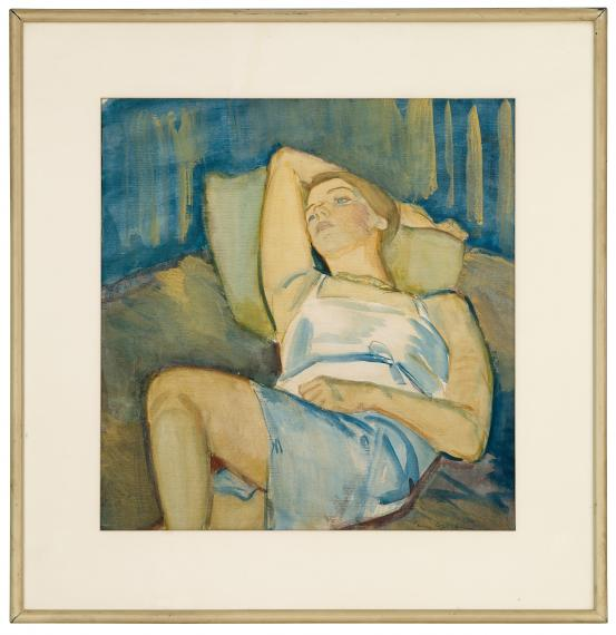 Mary Cecil ALLEN Reclining blue figure (c. 1930s)