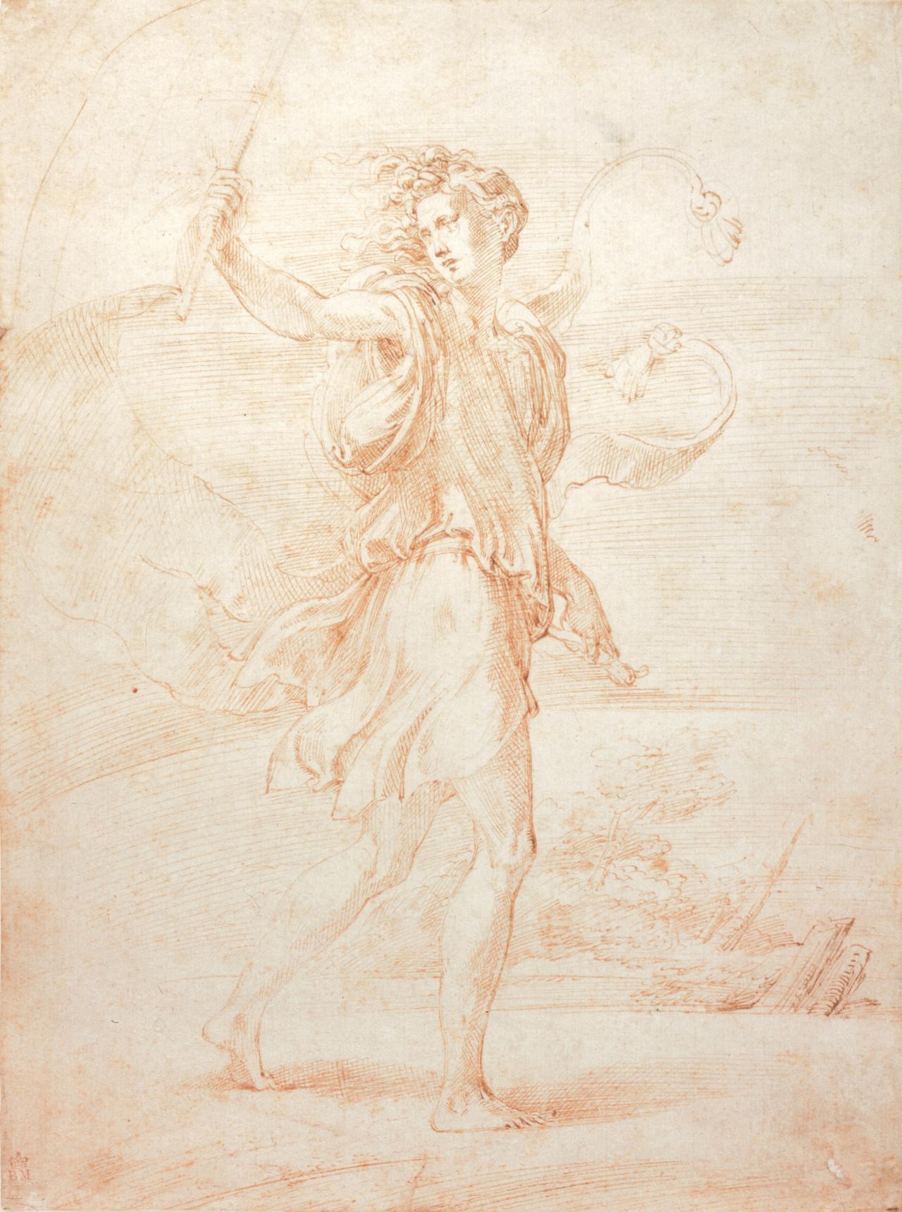 Phantasy and Myth, Parmigianino's Huntsman drawing   NGV
