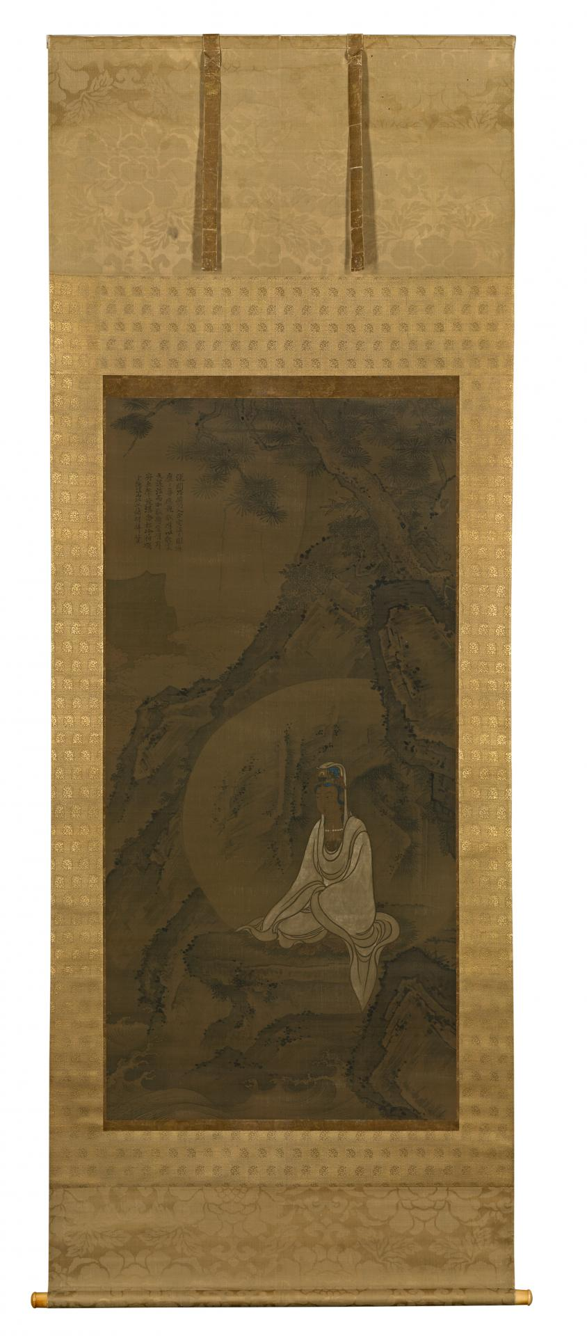 White-robed Guanyin in a landscape  China 14th century