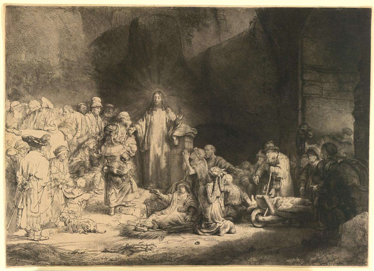 rembrandt etchings on oriental papers papers in the collection of rembrandt the hundred guilder print finished c 1649