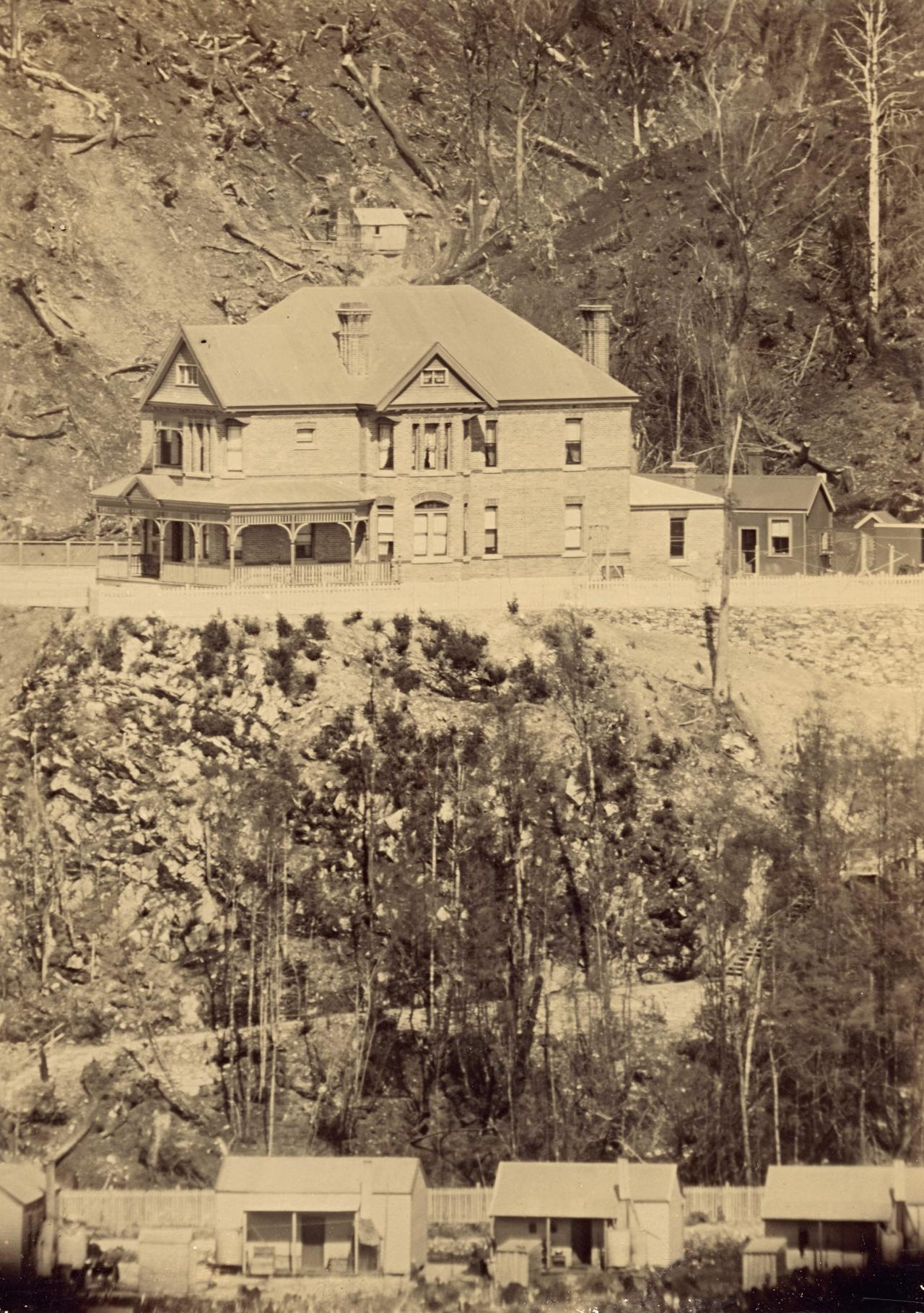 fig. 1 Penghana at the turn of the century, before the garden was established or new wings added to the residence.