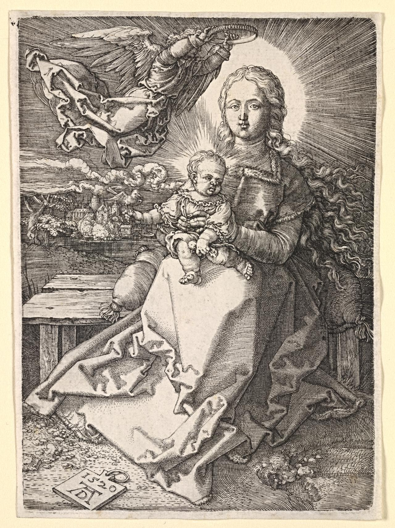 Dürers last three engravings of the virgin and child were completed in 1519 and 1520 and together constitute his definitive statement on the theme