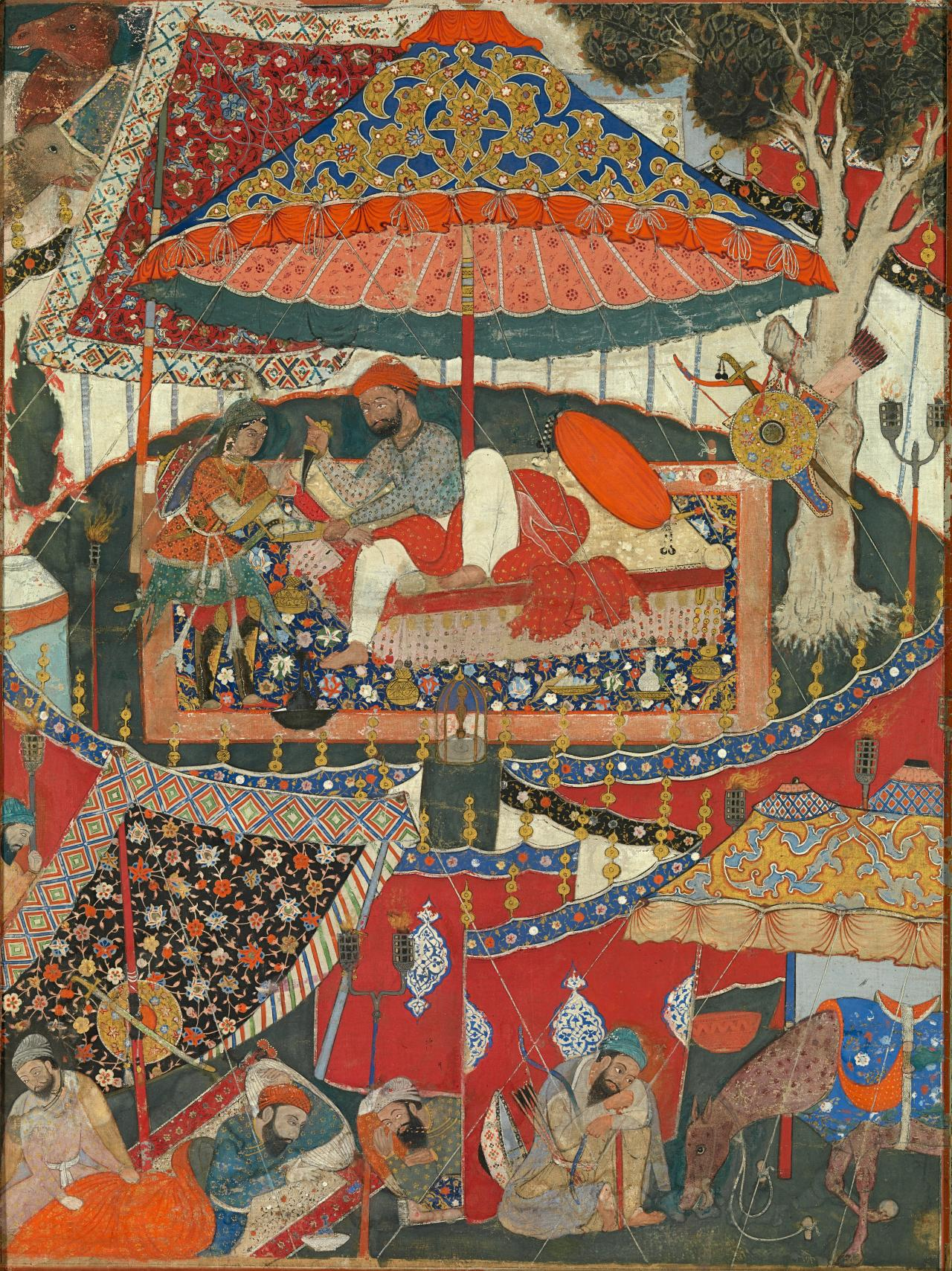 mughal painting under akbar the melbourne hamza nama and akbar fig 1 hamza disarming a byzantine princess