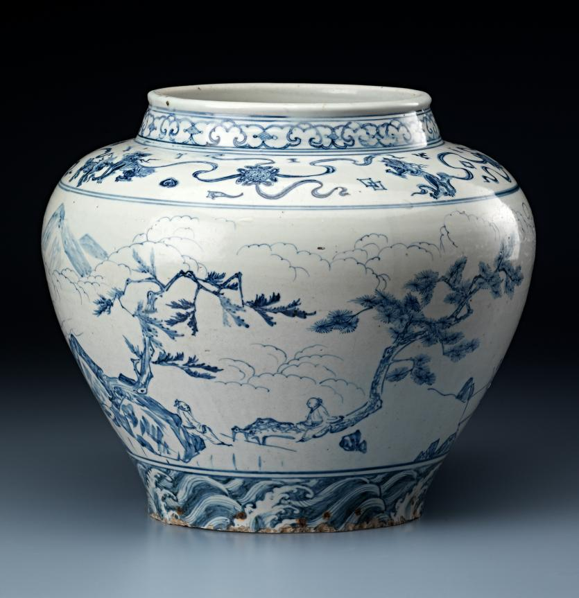 The Date Of A Rare Blue And White Wine Jar In The Chinese Collection