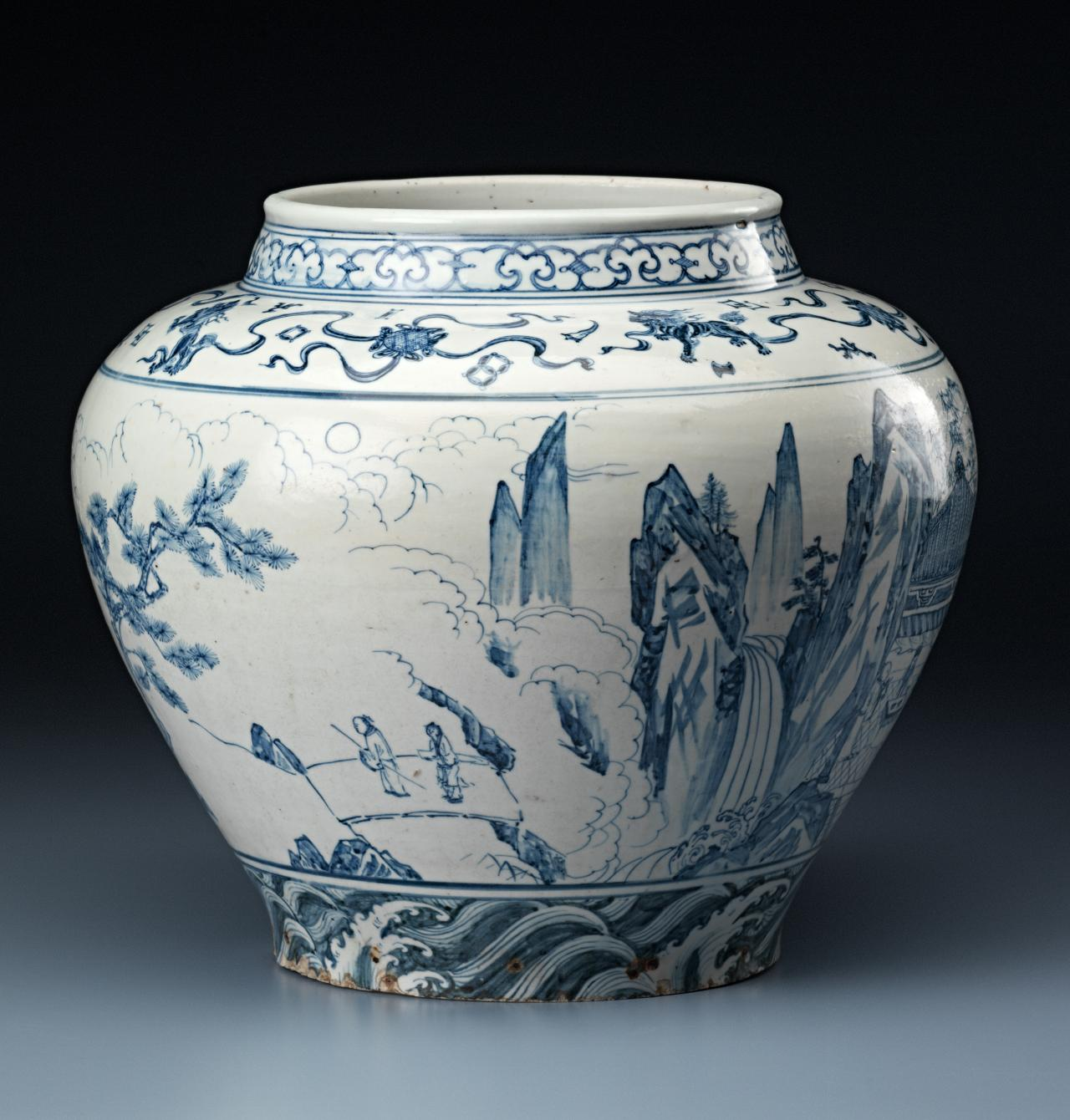 The date of a rare blue and white wine jar in the chinese fig 1a chinese reviewsmspy