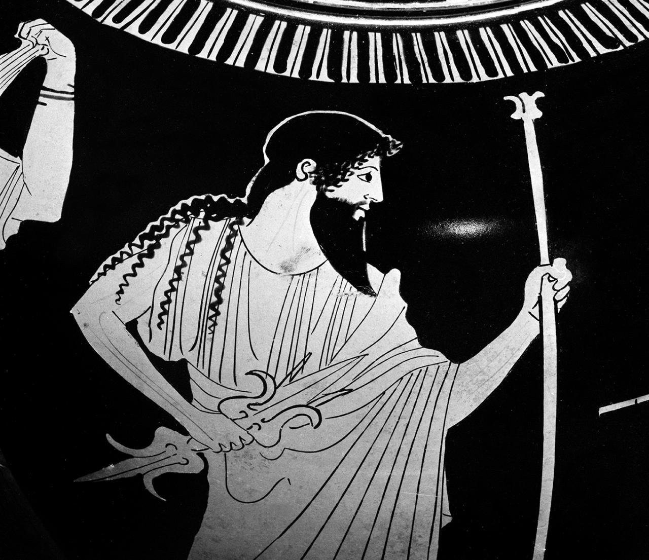 Image result for ancient greek vase big beard