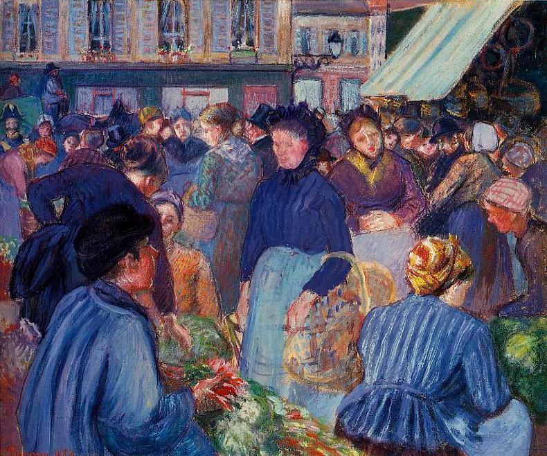 essay on scene of crowded market