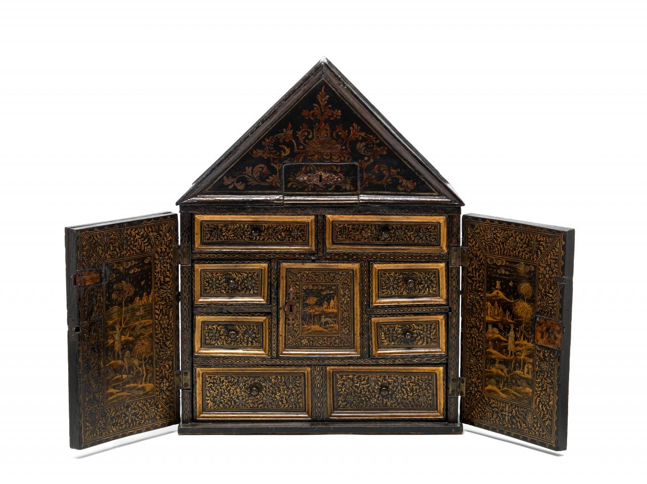A Cabinet Of Curiosity An Early English Japanned Cabinet In The