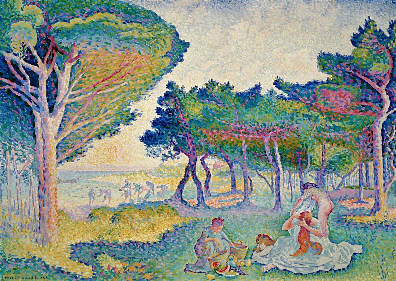 neo impressionism Neoimpressionismi eli uusimpressionismi oli jälki-impressionistisiin liikkeisiin kuulunut taidesuuntaus, joka kehittyi vuosina 1884–1885 ja toimi 1900-luvun alkuun.