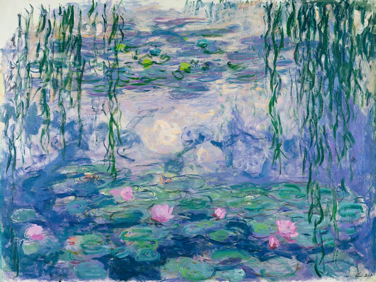 Claude Monet Waterlilies (Nymphéas) 1916–19