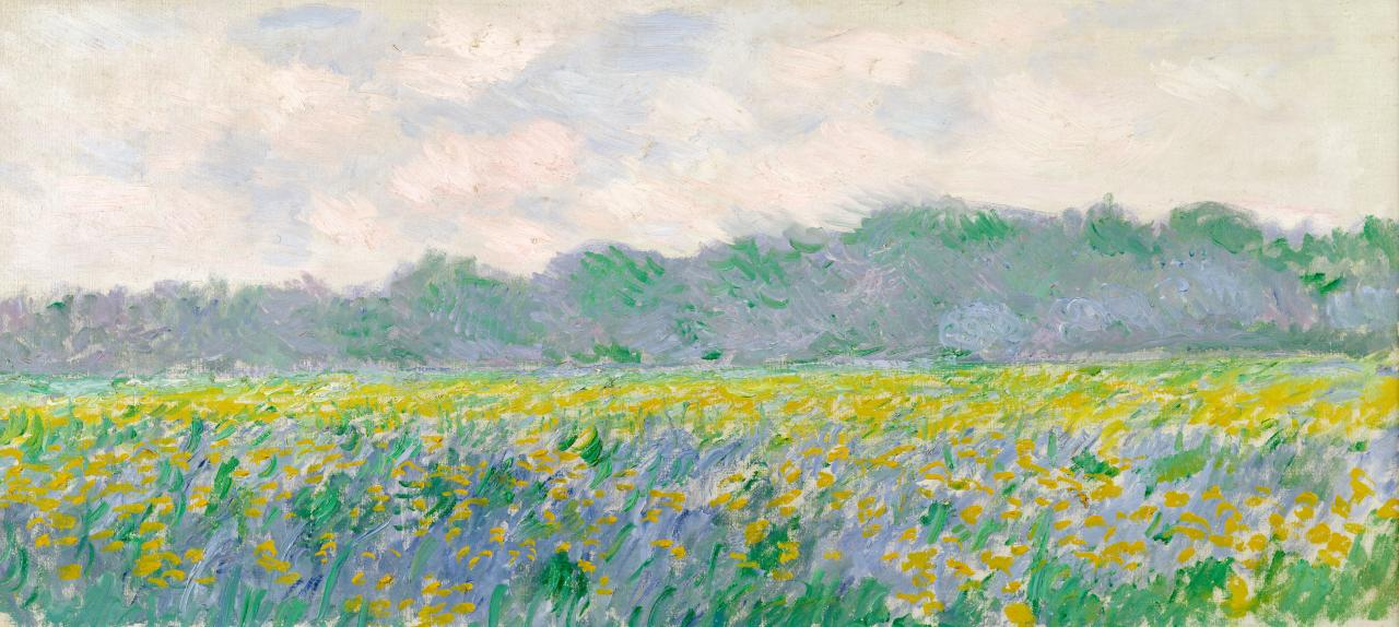 Claude Monet Field of yellow irises at Giverny (Champ d'iris jaunes à Giverny) 1887