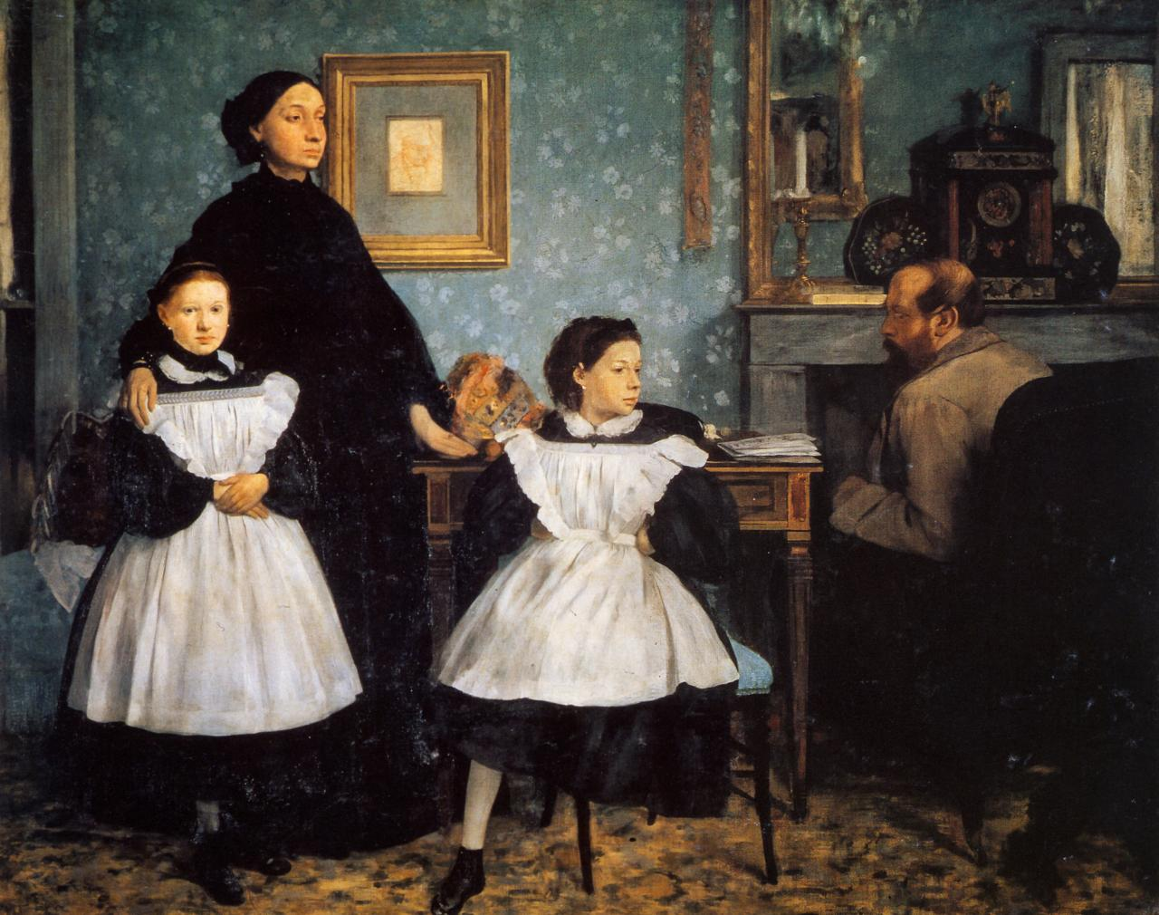 Edgar Degas  Family portrait (Portrait de famille), also called The Bellelli family 1858–67