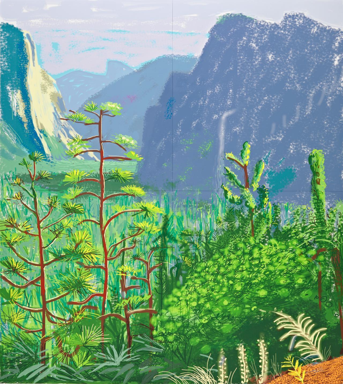 David Hockney<br/> English 1937&ndash;<br/> Yosemite I, October 16th 2011 (1059)<br/> iPad drawing<br/> Collection of the artist<br/> &copy; David Hockney
