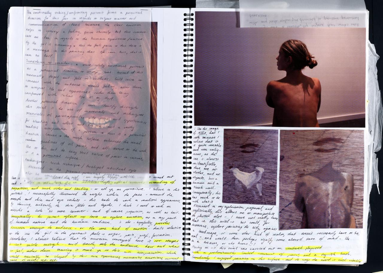 exploration proposal studio arts essay