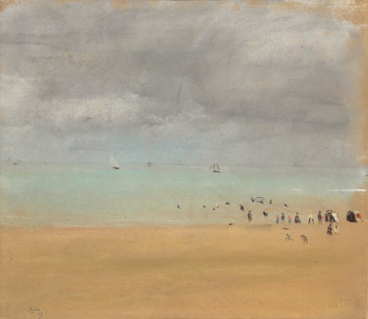Edgar Degas Beach at low tide (Plage à marée basse) 1869