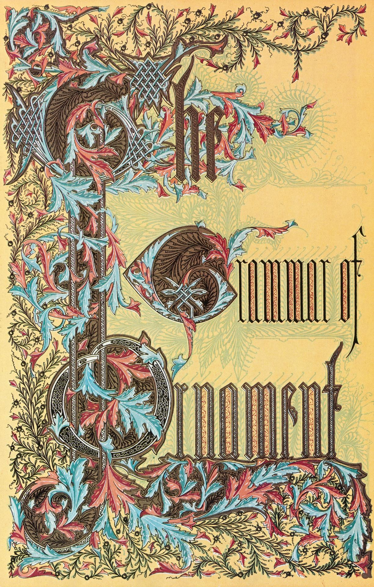 Owen Jones Grammar of Ornament 1856, reprinted 1972