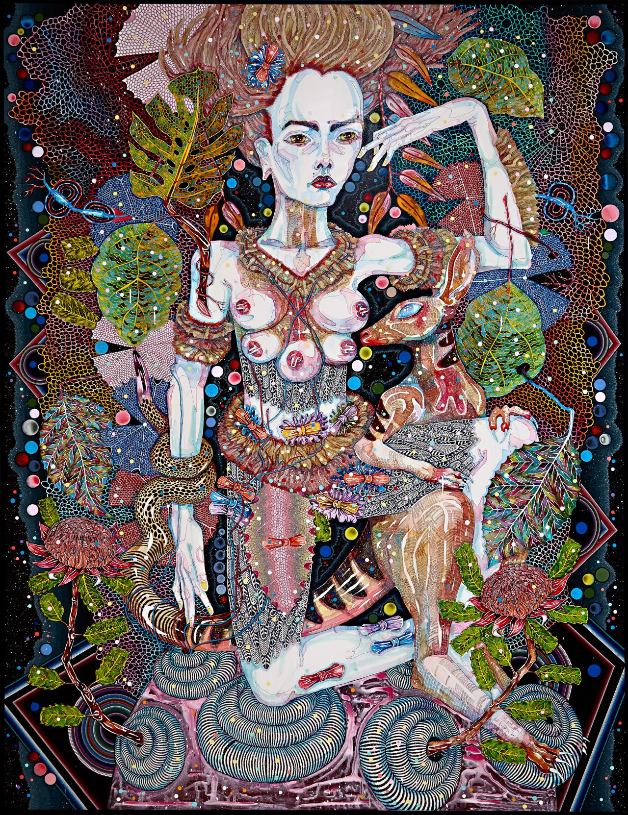 Del Kathryn Barton of pink planets 2014