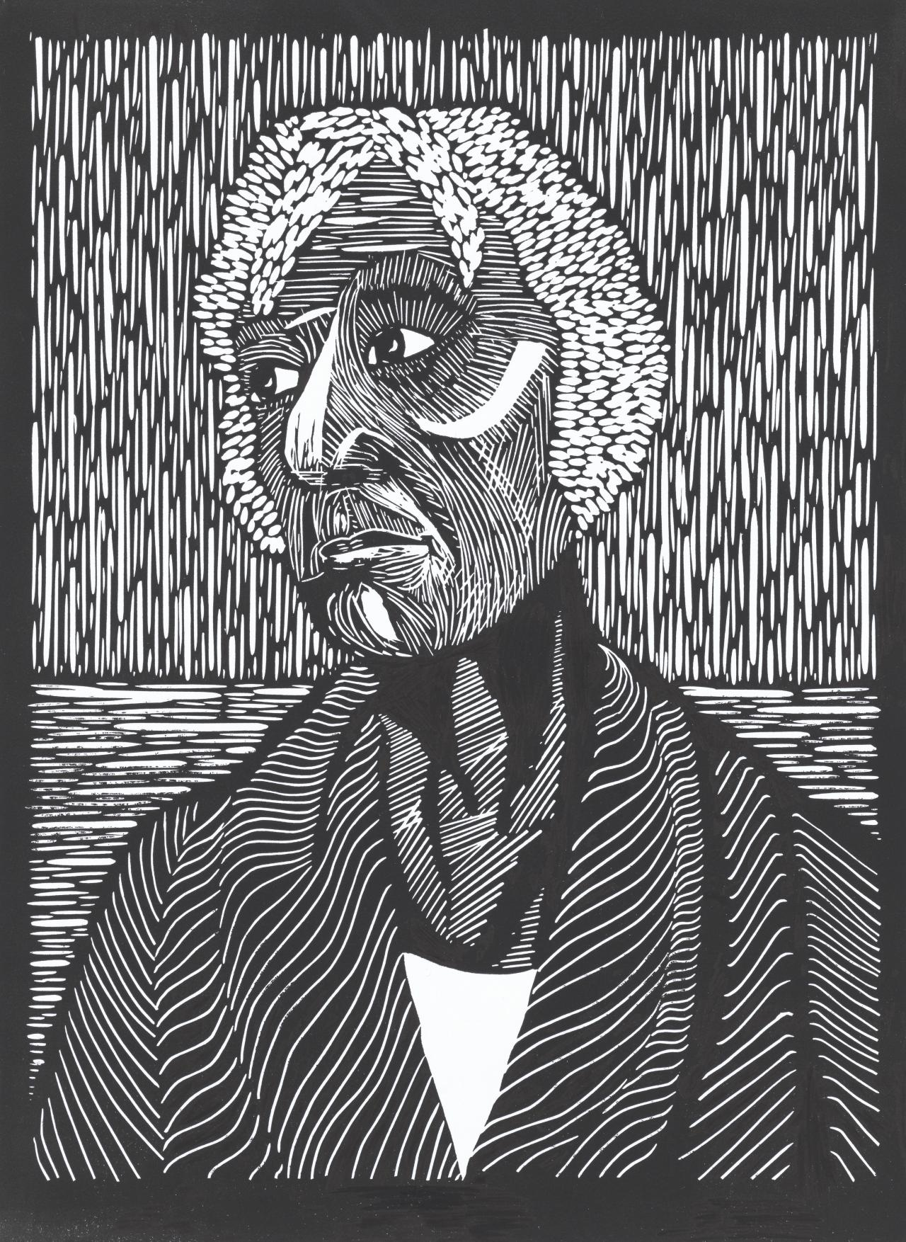43465f3d6c Grandma two 2017 from the Mothers 2 series linocut 36.9 x 27.0 cm (block  and sheet) St Kevin s College