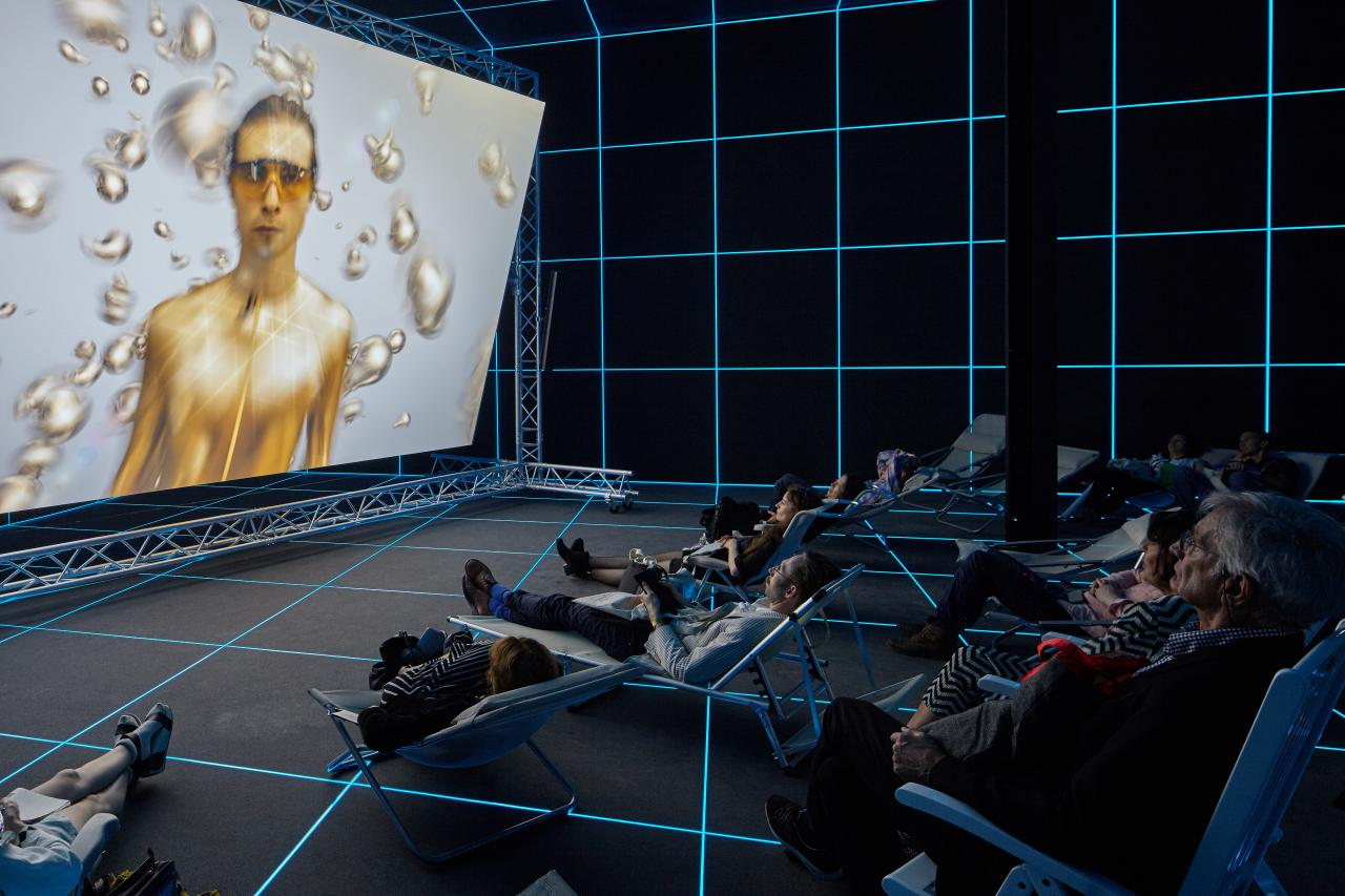 Hito  Steyerl Factory  of  the  Sun  Installation 2015 Venice  Biennale