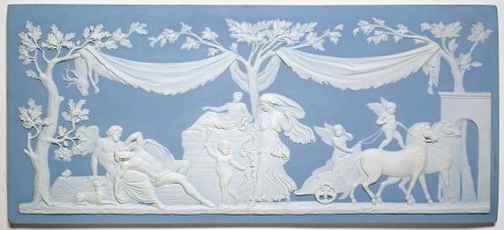 WEDGWOOD, Staffordshire (manufacturer) Diana visiting Endymion, plaque (c. 1875)