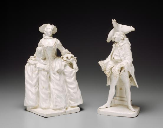 BOW PORCELAIN WORKS, London (manufacturer) Kitty Clive and Henry Woodward (c. 1750)